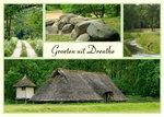 Ansichtkaart landschap in Drenthe, Postcard landscape in Drenthe, Postkarte landschaft in Drenthe