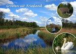 Ansichtkaart groeten uit Friesland, Postcard Friesland, Postkarte Friesland