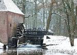 ansichtkaart watermolen Hackfort , watermill postcard Hackfort winter, Postkarte Wassermühle Hackfort