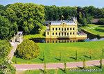 ansichtkaart kasteel Borg Nienoord Leek, postcardcastle Nienoord Leek, Postkarte Schloss Nienoord Leek