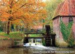 Herfstkaarten, ansichtkaart Berenschot's watermolen, Postcardwatermill, Postkarte Wassermühle