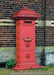Ansichtkaart Nederlandse brievenbus, postcard Dutch mailbox, postkarte Niederländische Briefkasten