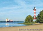 ansichtkaartvuurtoren Wittenbergen Hamburg, postcard lighthouse Wittenbergen Hamburg, postkarte leuchtturm Wittenbergen