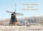 Goedkope kerstkaarten, korenmolen in de sneeuw, Christmas card flour mill, Weihnachtskarte Getreidemühle im Schnee