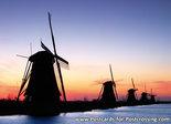 Ansichtkaartmolens van Kinderdijk - UNESCO WHS postcard Kinderdijk - UNESCO WHS Postkarte
