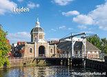 ansichtkaart Leiden Morspoortbrug, postcard Leiden Morspoortbridge, Postkarte Leiden Morspoortbrucke