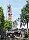 AnsichtkaartUtrechtse gracht metDomtoren, postcard Utrecht Domtower, Postkarte Utrecht Domtoren