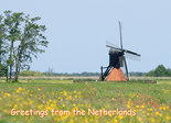 ansichtkaart greetings from the Netherlands, postcard greetings from the Netherlands, Postkarte greetings from the Netherlands