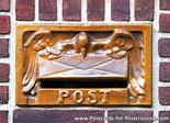 Ansichtkaart brievenbus Post, postcard mailbox Post, postkarte Post briefkasten