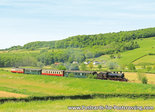 ansichtkaart Stoomlocomotief Miljoenenlijn Simpelveld, postcard Steam Locomotive, Postkarte Dampf-Lokomotive