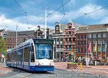 Ansichtkaart tram op het Muntplein in Amsterdam, postcard Amsterdam, Postkarte Amsterdam