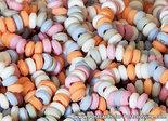 ansichtkaart snoepkettingen kaart, postcard candy chains, Postkarte Süßigkeiten Ketten