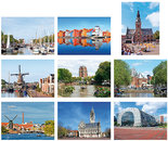 Steden kaartenset - City postcard set - Städte Postkarten Set