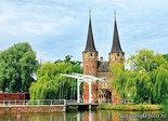 ansichtkaart Oostpoort in Delft