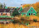 Herfstkaarten, ansichtkaart Koopmanswoningen in herfst