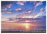 Ansichtkaart zonsondergang Noordzee