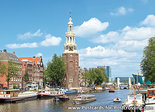 Amsterdamse grachten met Montelbaanstoren - postcard Amsterdam - postkarte Amsterdam