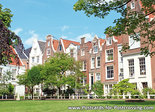 AnsichtkaartBegijnhof in Amsterdam, postcard Begijnhof Amsterdam, Postkarte Begijnhof Amsterdam