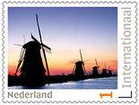 Postzegels voor Postcrossing - Kinderdijk