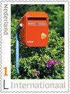 Postzegels voor Postcrossing - brievenbus