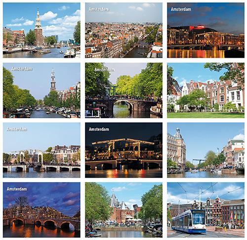 Kaarten set Amsterdam