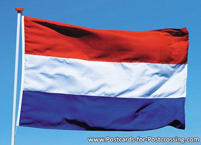 Ansichtkaart Nederlandse vlag