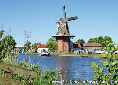 AnsichtkaartMolen de Zwaluw - Birdaard, mill postcard, Mühle Postkarte