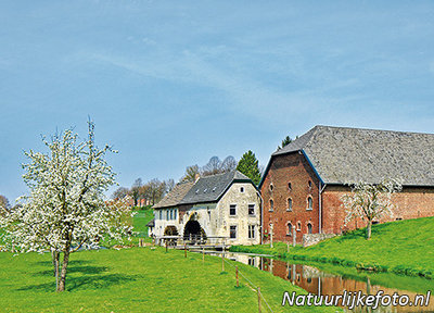 ansichtkaart watermolen bij Wijlre, postcard Watermill by Wijlre, Postkarte Wassermühle