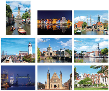 Kaarten set steden, postcard set cities, Postkarten Set Städte