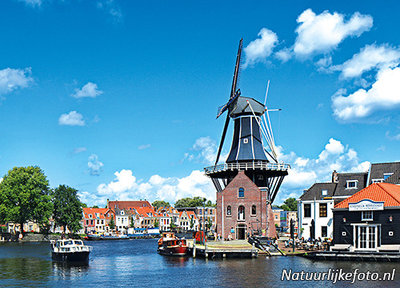 Ansichtkaartmolen de Adriaan in Haarlem, mill postcard Adriaan Haarlem, Mühle Postkarte  Adriaan