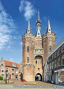AnsichtkaartZwolle Sassenpoort, postcard Zwolle Sassenpoort, Postkarte Zwolle Sassenpoort