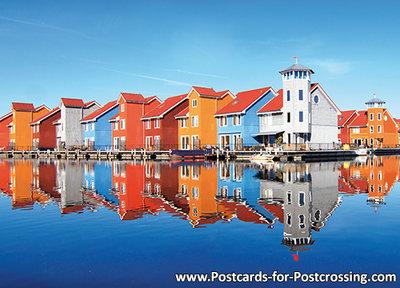Ansichtkaart Reitdiep haven in Groningen