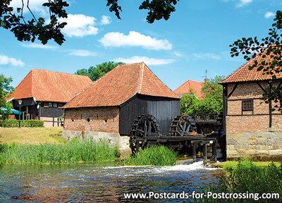 AnsichtkaartOostendorper watermolen in Haaksbergen, Oostendorper watermill, Oostendorper Wassermühle