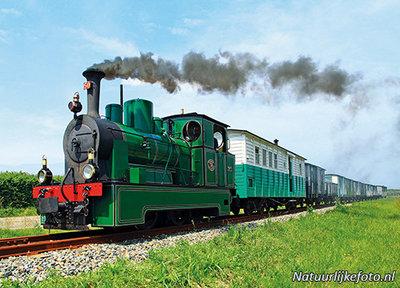 ansichtkaart Stoomtramlocomotief RTM 50, postcard Steam Tram Locomotive RTM 50, Postkarte Dampfbahnlokomotive