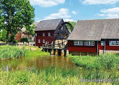 ansichtkaart Opwettense watermolen, PostcardOpwettense watermill, PostkarteOpwettense Wassermühle