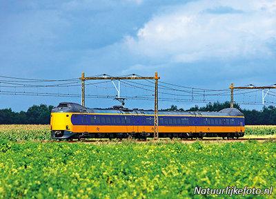 ansichtkaarten NS trein De Koploper, postcard NS Train, Postkarte NS Zug
