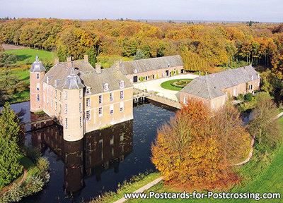 Herfstkaarten, kasteel Slangenburg in Doetinchem, postcardcastle Slangenburg, Postkarte Schloss Slangenburg