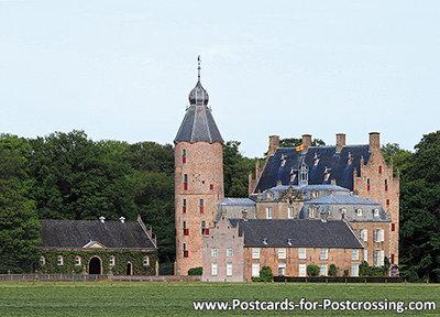 ansichtkaart kasteel Rechteren in Dalfsen, postcardcastle Rechteren , Postkarte Schloss Rechteren