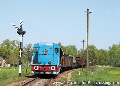 ansichtkaart Diesel-elektrische locomotief NS 2412, train postcard. Zug Postkarte