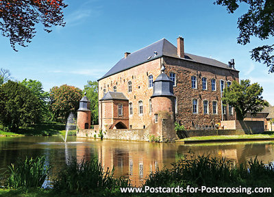ansichtkaart kasteel Erenstein in Kerkrade, postcardcastle Erenstein, Postkarte Schloss Erenstein
