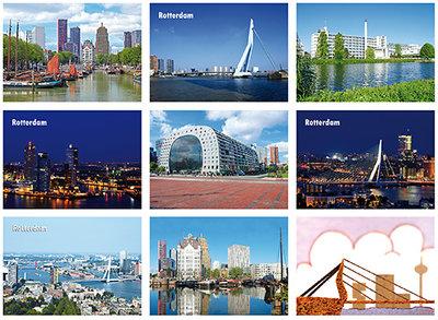 kaartenset Rotterdam, postcard set Rotterdam, Postkarten Set Rotterdam
