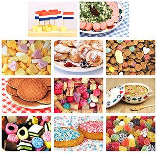 Kaarten set eten en snoep,postcard set food and candy,Postkarten Set Essen und Süßigkeiten