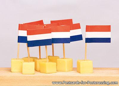 Ansichtkaart Kaasplankje, Postcard Cheese platter, PostkarteKäseplatte