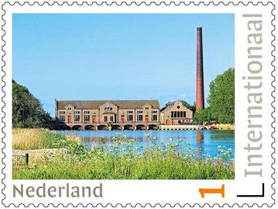 Postzegels 5 x Internationaal Unesco Wouda gemaal