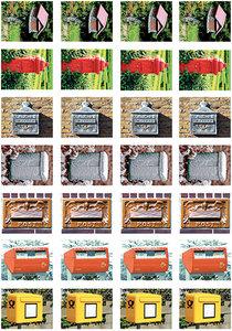 Brievenbus stickervel voor Postcrossing