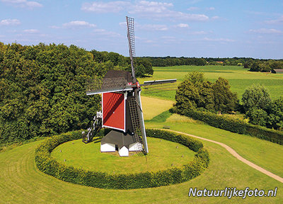 ansichtkaart molen Den Evert in Someren