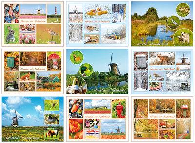 Ansichtkaarten Nederland - groeten uit