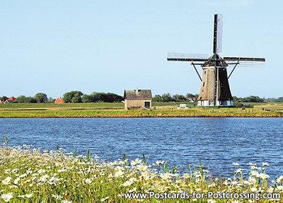 ansichtkaart molen het Noorden op Texel, mill postcard, Mühle Postkarte