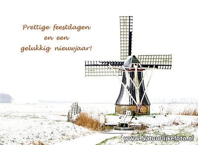 Goedkope kerstkaarten, molen in de sneeuw, Christmas card windmill in the snow, Weihnachtskarten Windmühle im Schnee