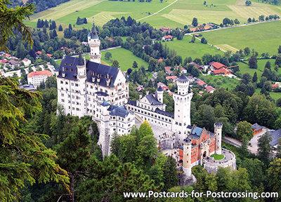 ansichtkaart kasteel, castle postcardNeuschwanstein, Postkarte / Ansichtskarte Deutschland - Schloss Neuschwanstein